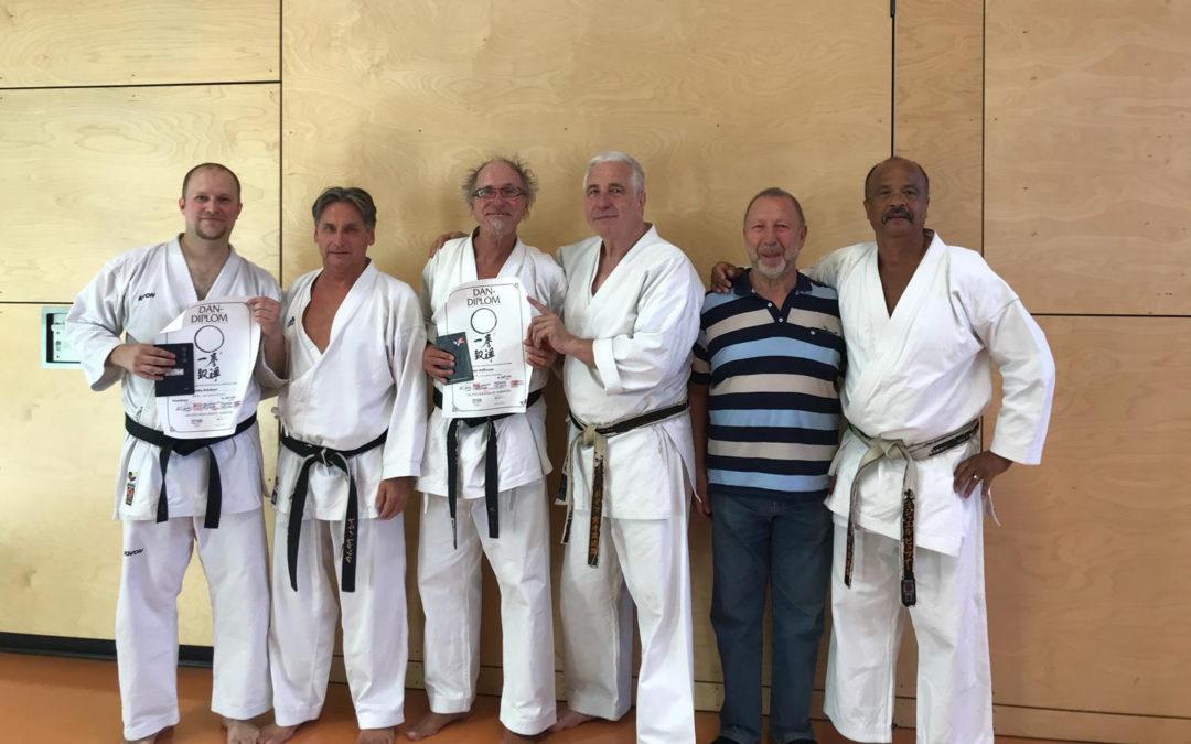 Herzlichen Glückwunsch zum vierten schwarzen Gürtel für Andy Ardelean und Peter Hoffmann